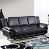 Jesus Leather Sofa, Black - GLO-U9908-BL-S-W-LEGS-M