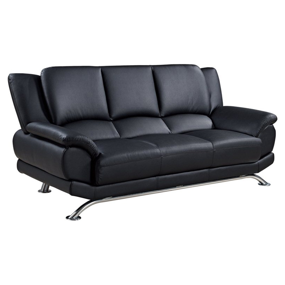 Jesus Leather Sofa Black Dcg Stores