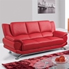 Jesus Leather Sofa in Red - GLO-U9908-R6V-RED-S-M