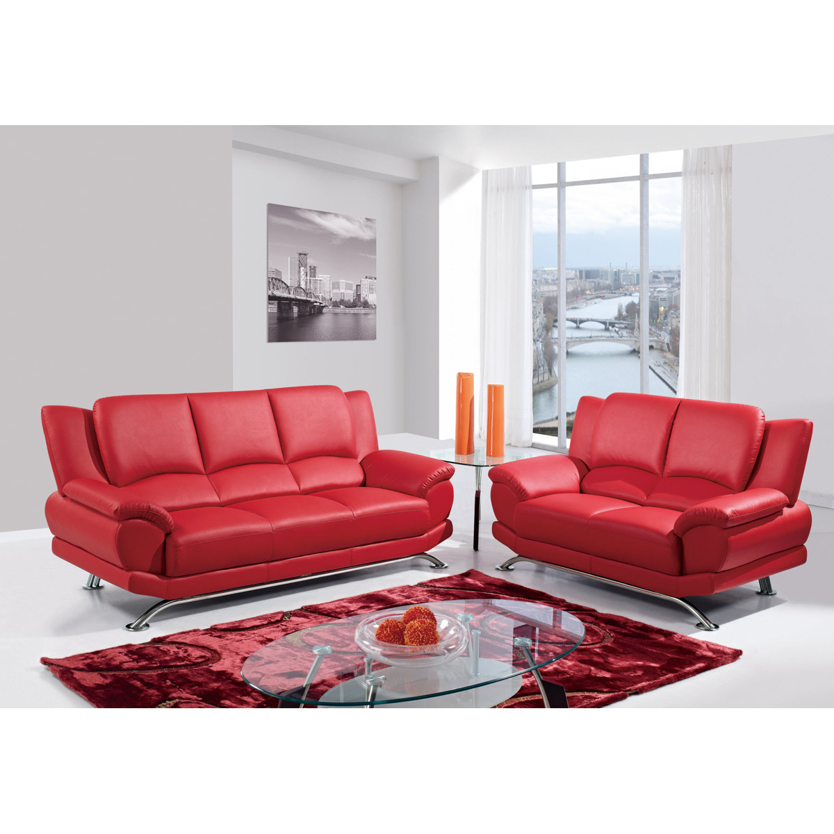 Jesus leather sofa set red dcg stores for V furniture outlet palmdale