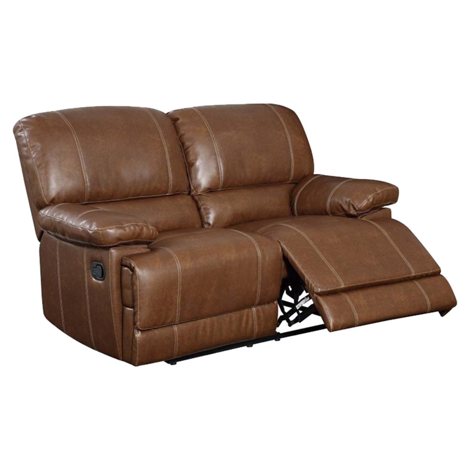 Rodeo Reclining Loveseat - Brown Leather - GLO-U9963-RODEO-BROWN-R-L-M