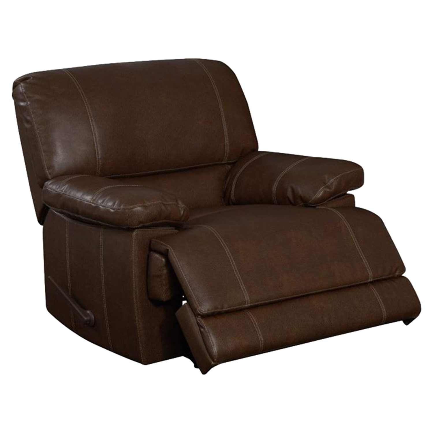 A Glass And Gold Bar Cart Brown Leather Armchair And: Rodeo Rocker Recliner Chair, Brown Leather