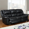 Jocelyn Reclining Sofa Set in Black Leather - GLO-U9966-SET