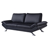 Modern Leather Sofa Set in Natalie Black - GLO-UFM151-R6U6-BL-SET