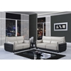 Kaden Natalie Gray/Natalie Black Leather Sofa - GLO-UFY220-R6U6-GR-BL-S