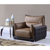 Kaden Leather Chair - Brown - GLO-UFY220-RV-CH