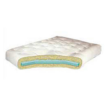 6 Cotton Futon Mattress with Single Foam Core - Queen