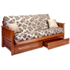Burlington Cherry Oak Futon Frame - GB-AOSU
