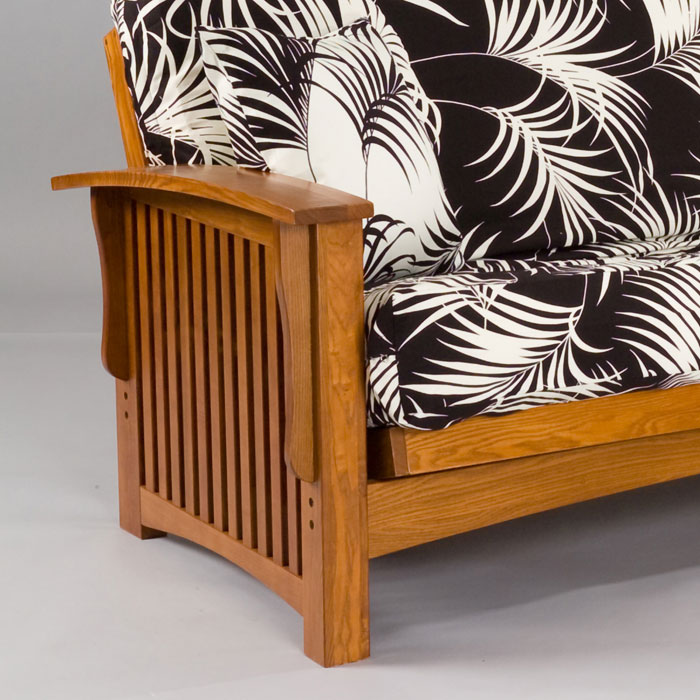 manhattan cherry oak futon frame   gb aocr     manhattan cherry oak futon frame   dcg stores  rh   dcgstores