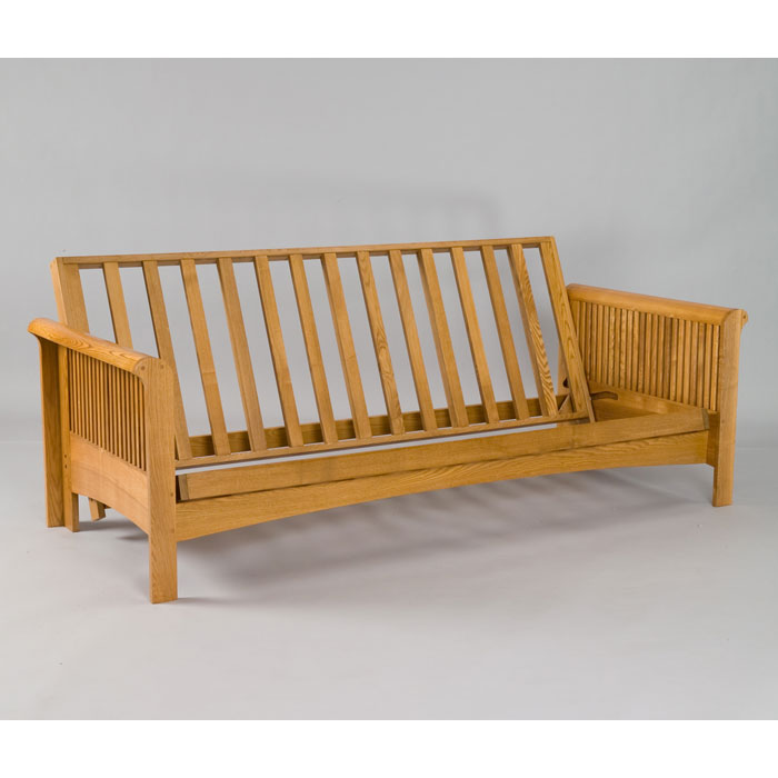 Portland Cherry Oak Futon Set Gb Aofa