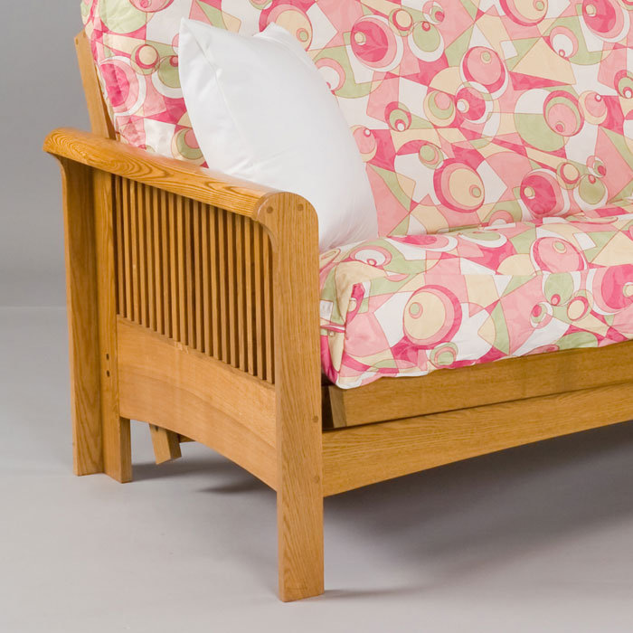 portland cherry oak futon frame   gb aofa     portland cherry oak futon frame   dcg stores  rh   dcgstores