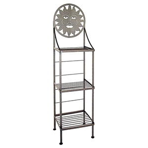 Celestial Wrought Iron Bakers Rack - 3 Wire Shelves
