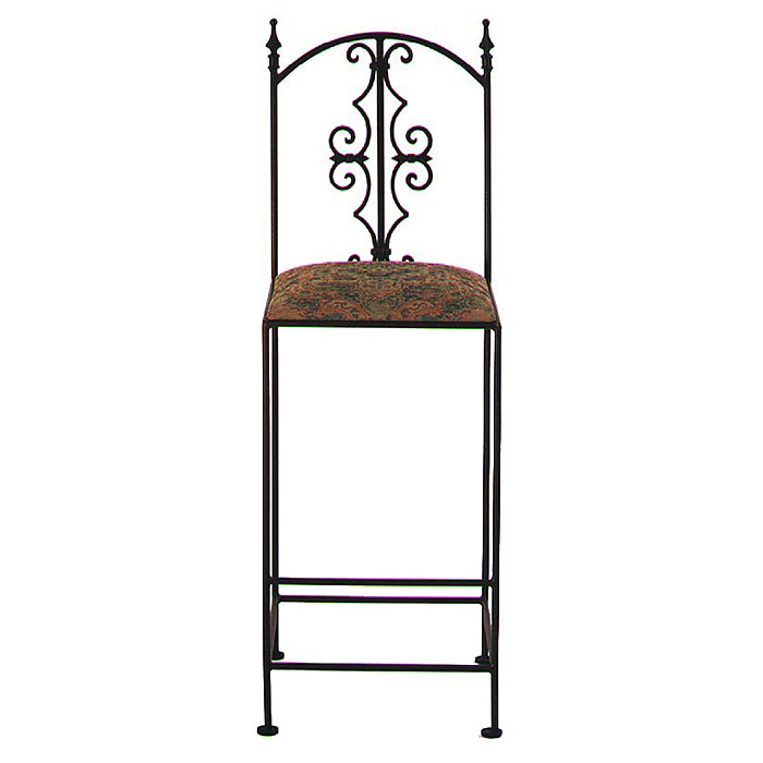 "Gothic Gate 30"" Wrought Iron Bar Stool - GMC-2030-G-BS"