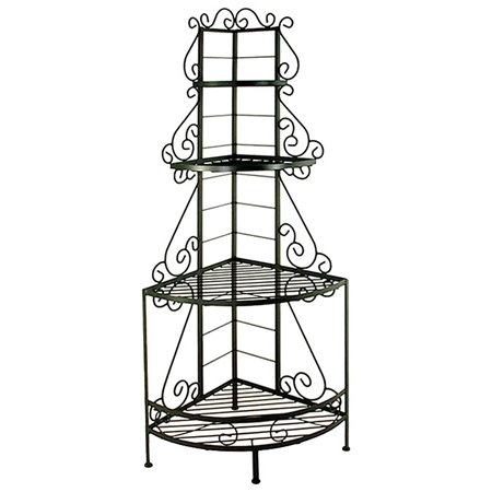 french 24 wrought iron baker 39 s corner rack 4 wire. Black Bedroom Furniture Sets. Home Design Ideas