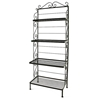 "24"" Wrought Iron Baker's Rack - 4 Graduated Shelves - GMC-244G"
