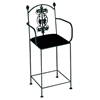 "Vineyard 24"" Wrought Iron Counter Stool - Grapes Ornament, Arms - GMC-3024ARM-7"