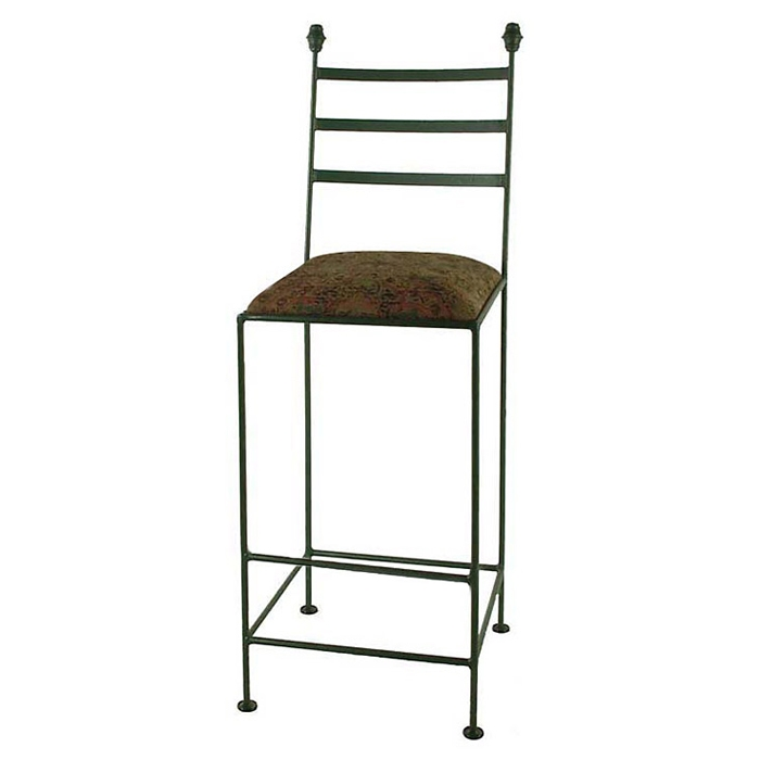"Shaker 30"" Wrought Iron Bar Stool - 3 Slats - GMC-3030-SHAKER"