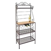 "30"" Gourmet Baker's Rack - Maple Wood Top, 3 Wire Shelves - GMC-30GO"