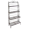 "36"" Wrought Iron Baker's Rack - 4 Graduated Shelves - GMC-364G"