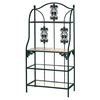 "Vineyard 36"" Baker's Rack - Wood Top, 3 Glass Shelves - GMC-36VZX"