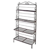 "48"" Wrought Iron Baker's Rack - 4 Graduated Shelves - GMC-484G"