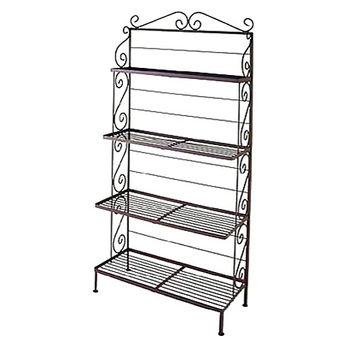 48 Quot Wrought Iron Baker S Rack 4 Graduated Shelves Dcg