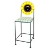 "Floral 24"" Wrought Iron Counter Stool - Hand Painted - GMC-AL-24-FLORAL"