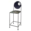 "8-Ball 24"" Wrought Iron Counter Stool - Hand Painted - GMC-AL-24-8-BALL"