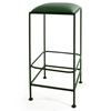 "Square 30"" Wrought Iron Backless Bar Stool - GMC-B30"