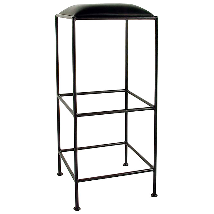 "Square 36"" Wrought Iron Backless Bar Stool - Extra Tall - GMC-B34"