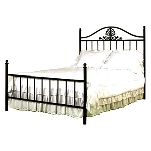 Coronet Wrought Iron Bed - Camelback Headboard, Spindles