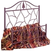 Twig Wrought Iron Bed - Camelback Headboard, Pine Tree Accent - GMC-B-7000-BED