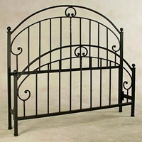 Old Charleston Wrought Iron Bed - C Scrolls, Spindles
