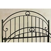 Old Charleston Wrought Iron Headboard - C Scrolls, Spindles - GMC-B-9000-HB