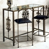 Rose Garden Bar Table - Wrought Iron, Glass Top - GMC-BAR4919-3
