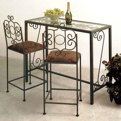 "French Traditional 24"" Wrought Iron Counter Stool - GMC-FT-24-CS"