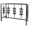 Rose Garden Buffet Table - Wrought Iron, Glass Top - GMC-BU4919-3