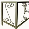 French Traditional Desk - Wrought Iron, Glass Top - GMC-DE4919-FT