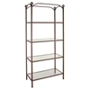 Wrought Iron Display Unit - 4 Rectangular Glass Shelves - GMC-FIX-36