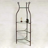 Wrought Iron Display Unit - 4 Round Glass Shelves - GMC-FIX-24RD