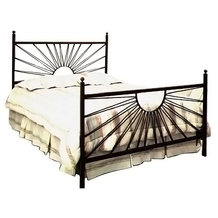 el sol wrought iron bed sunburst design gmcib1bed