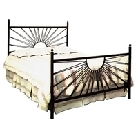 El Sol Wrought Iron Bed - Sunburst Design