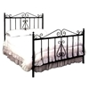 French Traditional Wrought Iron Headboard - Scrolls, Spindles - GMC-IB4-HB