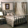 Rose Garden Wrought Iron Bed - Ornate Scrollwork - GMC-IB10-BED