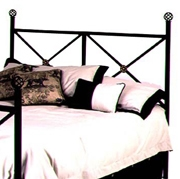 Neoclassic Wrought Iron Headboard - X Pattern, Ornate Castings