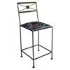 "Neoclassic 24"" Wrought Iron Counter Stool - X Back - GMC-N-24"