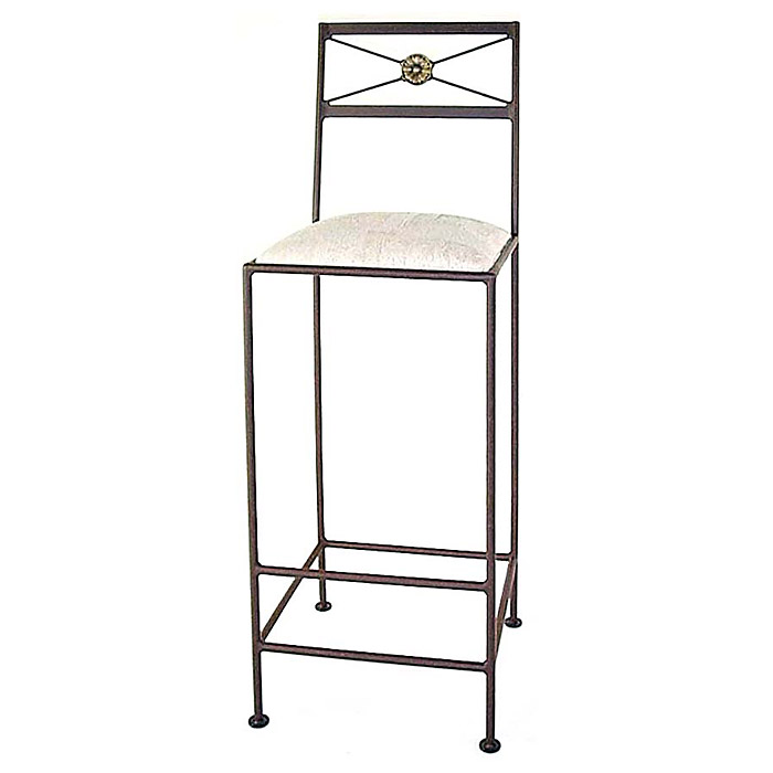 Neoclassic 30 Quot Wrought Iron Bar Stool X Back Dcg Stores