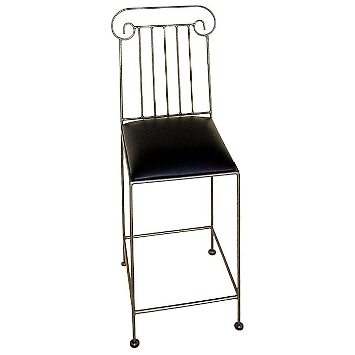 "Roman Column 24"" Wrought Iron Counter Stool - GMC-RC-24"