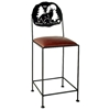 "Great Outdoors 24"" Wrought Iron Counter Stool - GMC-SML-24-OUTDOOR"