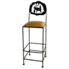 "Great Outdoors 30"" Wrought Iron Bar Stool - GMC-SML-30-OUTDOOR"